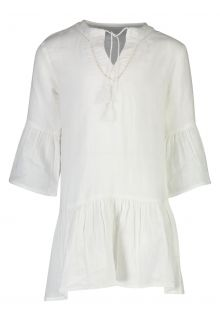 Snapper Rock - Organic Cotton Kaftan for girls - White - Front