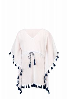 Snapper Rock - Beach tunic Ombre Leaf - White - Front