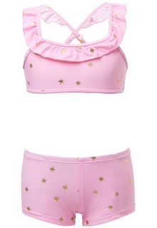 Snapper Rock - Bikini for girls - Pink Gold Star - Pink - Front