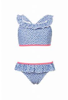 Snapper Rock - Sports bikini Tear Drop - Blue - Front