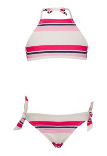 Snapper Rock - Halter bikini - Navy/ Pink Stripe - 0