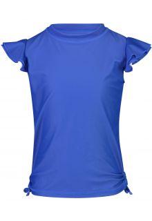 Snapper Rock - UV Swim shirt for girls - Flutter sleeve - Blue - Front