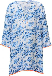 Snapper Rock - Tunic for girls - Cottage Floral - White/Blue - Front