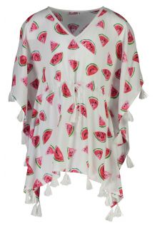 Snapper Rock - Batwing Kaftan for girls - Watermelon - White - Front