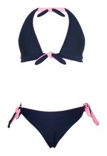 Snapper Rock - Reversible bikini - Navy/Ballet Pink - Front