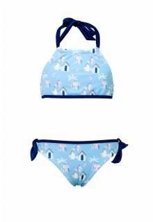 Snapper Rock - Bikini Cabana Palm - Blue - Front
