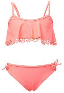 Snapper Rock - Bikini for girls - Neon Coral - Orange - Front