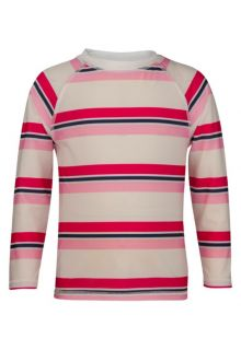 Snapper Rock - Long Sleeve Rash Top - Pink/ Navy Cabana Stripe - 0