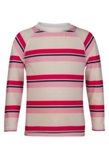 Snapper Rock - Long Sleeve Rash Top - Pink/ Navy Cabana Stripe - 0