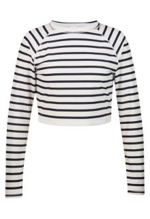 Snapper Rock - Long Sleeve Crop Top - Navy/White Stripe - 0