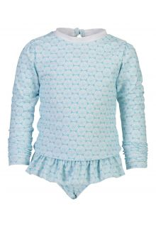 Snapper Rock - UV Swim set for girls - Oceania Sustainable - Aqua - Front