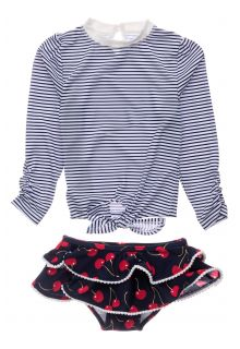 Snapper-Rock---UV-Swim-set-for-baby-girls---Longsleeve---Ma-Cheri---Blue/White