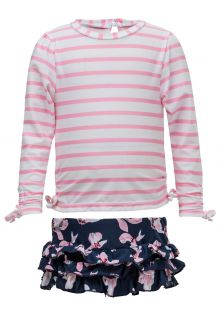 Snapper Rock - UV Swim set for Babies - Navy Orchid - Pink/Dark Blue - Front