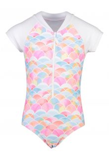 Snapper Rock - Short sleeve UV Bathingsuit for girls - Rainbow Connection - Multi - Front