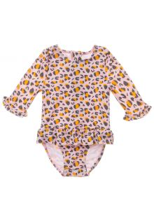 Snapper-Rock---UV-Swim-suit-for-baby-girls---Longsleeve---Leopard-Love---Pink