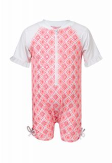 Snapper Rock - baby UV suit Diamond - Pink - Front