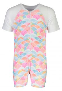 Snapper Rock - UV Swimsuit with short sleeves - Rainbow Connection - Multi - Front