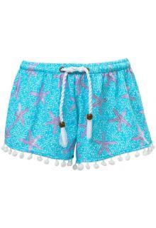 Snapper Rock - Swim shorts for girls - Ocean Star - Blue - Front