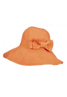 UV oprolbare hat for women from Scala - Papaya - 0