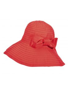 UV oprolbare hat for women from Scala - Grapefruit - 0