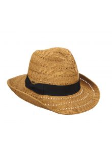 Braided hat for ladies from Scala - Toast - 0