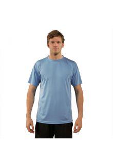 Vapor Apparel - Men's UV-shirt with short sleeves - light blue - Front