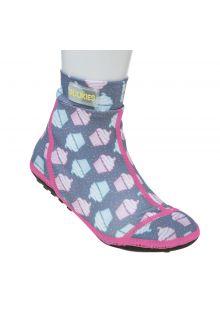 Duukies - Girls UV Beach Socks - Muffin Grey Pink - Grey - Front