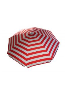 Banz---UV-Beach-umbrella---165/200cm-x-180cm---Red-Stripe