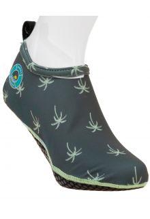 Duukies---Mens-UV-Beach-Socks---Mens-Palm-Green---Dark-Green