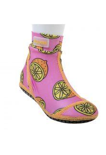 Duukies - Girls UV Beach Socks - Pink Lemon - Pink - Front