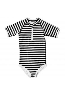 Beach & Bandits - UV bathing suit for girls - Bandit Girl - Stripes - Front