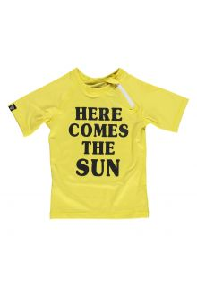 Beach & Bandits - UV swim shirt child - Here comes the sun - Yellow - Front