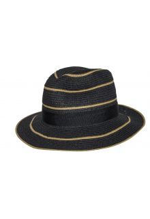 Rigon---UV-straw-hat-for-women---Maria---Black-/-naturel