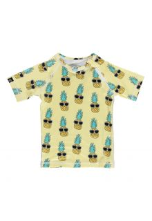 Beach & Bandits - UV swim shirt child - Punky Pineapple - Yellow - Front