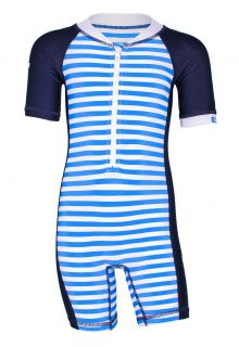 JUJA---UV-Swim-suit-for-babies---short-sleeves---Captain---Blue