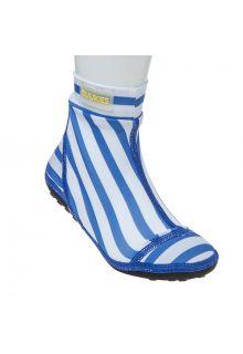 Duukies - Boys UV Beach Socks - Stripe Blue White - Blue Stripes - Front