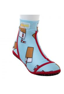 Duukies - Kids UV Beach Socks - Straw Lemonade - Light Blue - Front