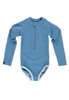 Beach-&-Bandits---UV-Bathingsuit-for-girls---Ribbed---Reef-blue