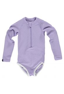 Beach-&-Bandits---UV-Bathingsuit-for-girls---Ribbed---Lavender