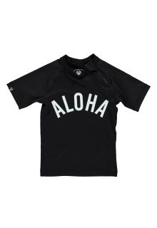 Beach-&-Bandits---Kids'-UV-swim-shirt---Aloha-Tee---Black