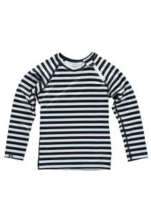 Beach-&-Bandits---Kids'-UV-swim-shirt---Stripe---Black/White