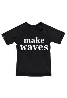Beach-&-Bandits---UV-Swim-shirt-for-kids---Make-Waves---Black