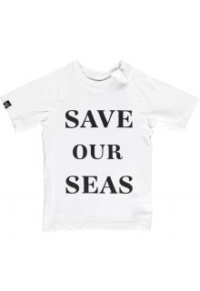 Beach-&-Bandits---UV-Swim-shirt-for-kids---Save-Our-Seas---White