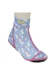 Duukies - Girls UV Beach Socks - Unicorn Lilac Pink - Purple - Front