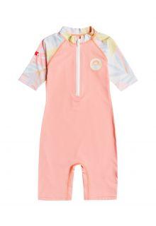 Billabong---UV-Swim-suit-for-girls---Short-sleeve---Billie-Logo---Coral-pink