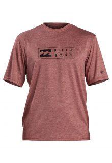 Billabong---UV-Rashguard-for-men---Short-sleeve---Unity---Oxblood-heather