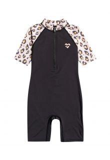 Billabong---UV-Swim-suit-for-girls---Short-sleeve---Billie-Logo---Off-Black