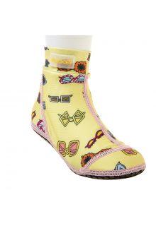 Duukies - Girls UV Beach Socks - Yellow Summer - Yellow - Front