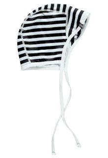 Beach & Bandits - Babies' UV hat - Small Bandit - White/Black - Front