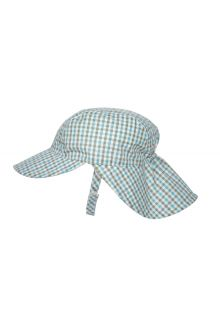 Rigon---UV-sun-cap-for-babies-with-neck-flap---Blue-gingham